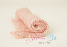 Plain Colour Lacey Wrap/Stuffer - PEACH